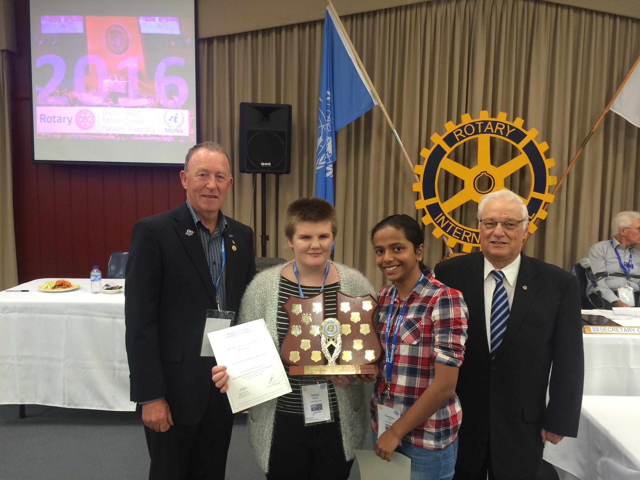 Best Overall Delegation Award