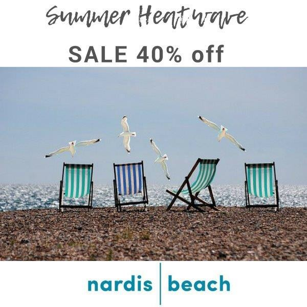 40% off at nardisbeach.com  Use HEATWAVE code in checkout. #summersale #swimwearsale #beachwearsale #nardisbeach