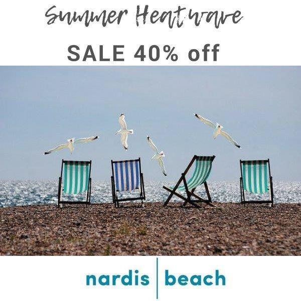 40% off at nardisbeach.com  Use HEATWAVE code in checkout. #summersale #swimwearsale #beachwearsale #nardisbeach