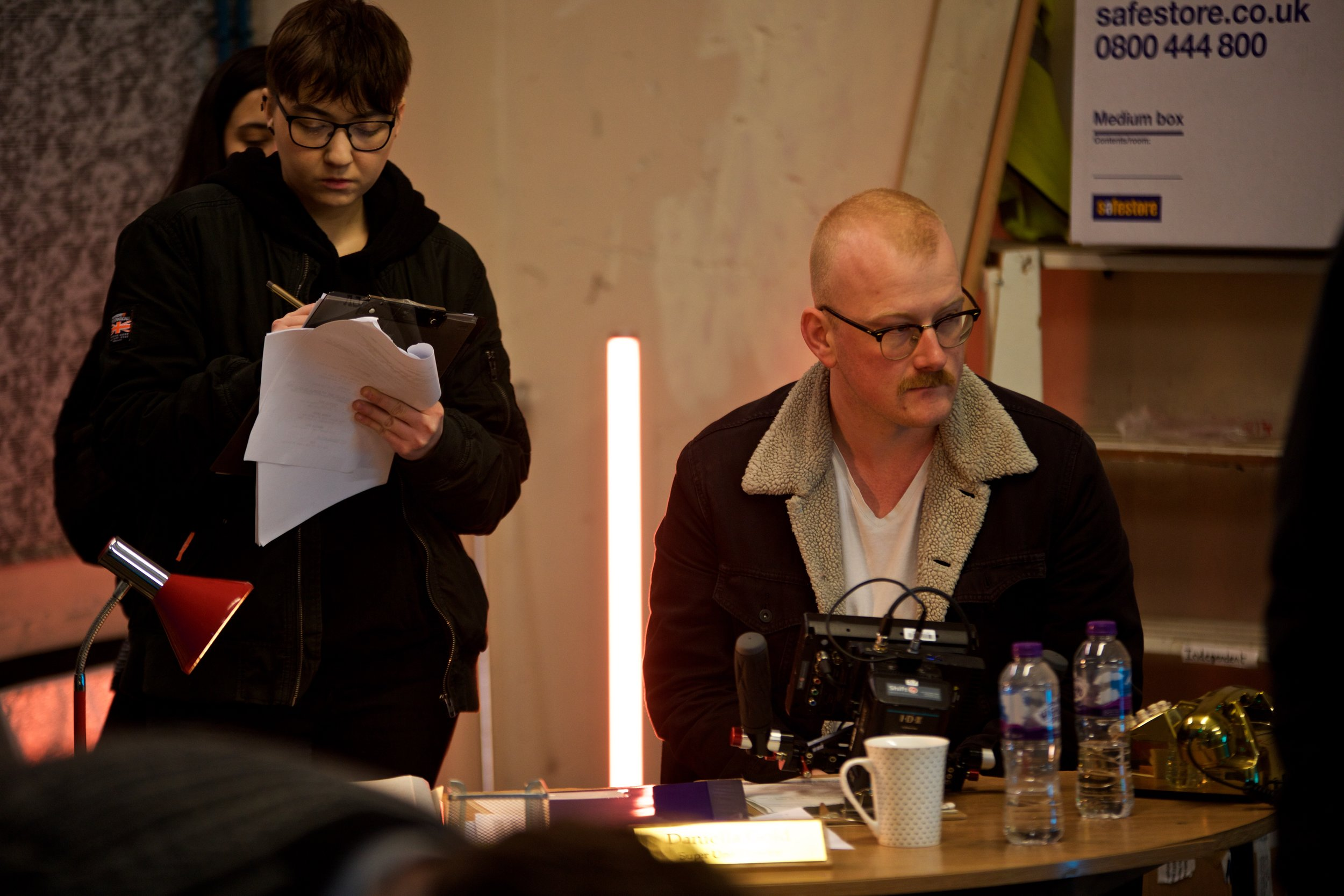 Director  Jack Carrivick  and script supervisor Andra Sascau