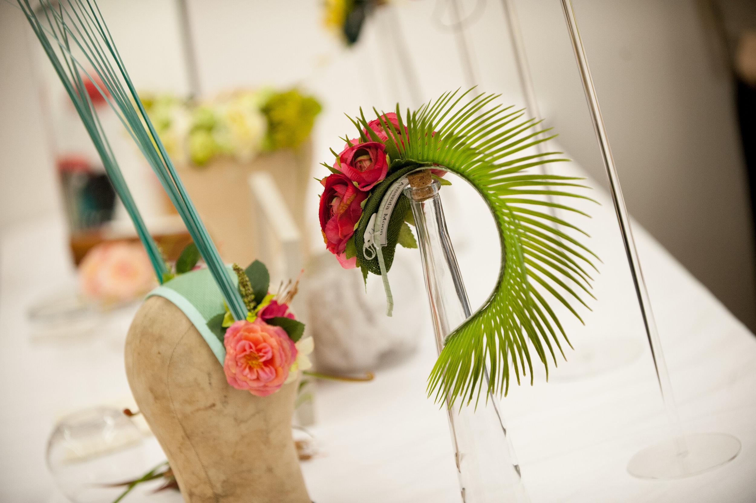 Floral headwear by  Amanda Moon