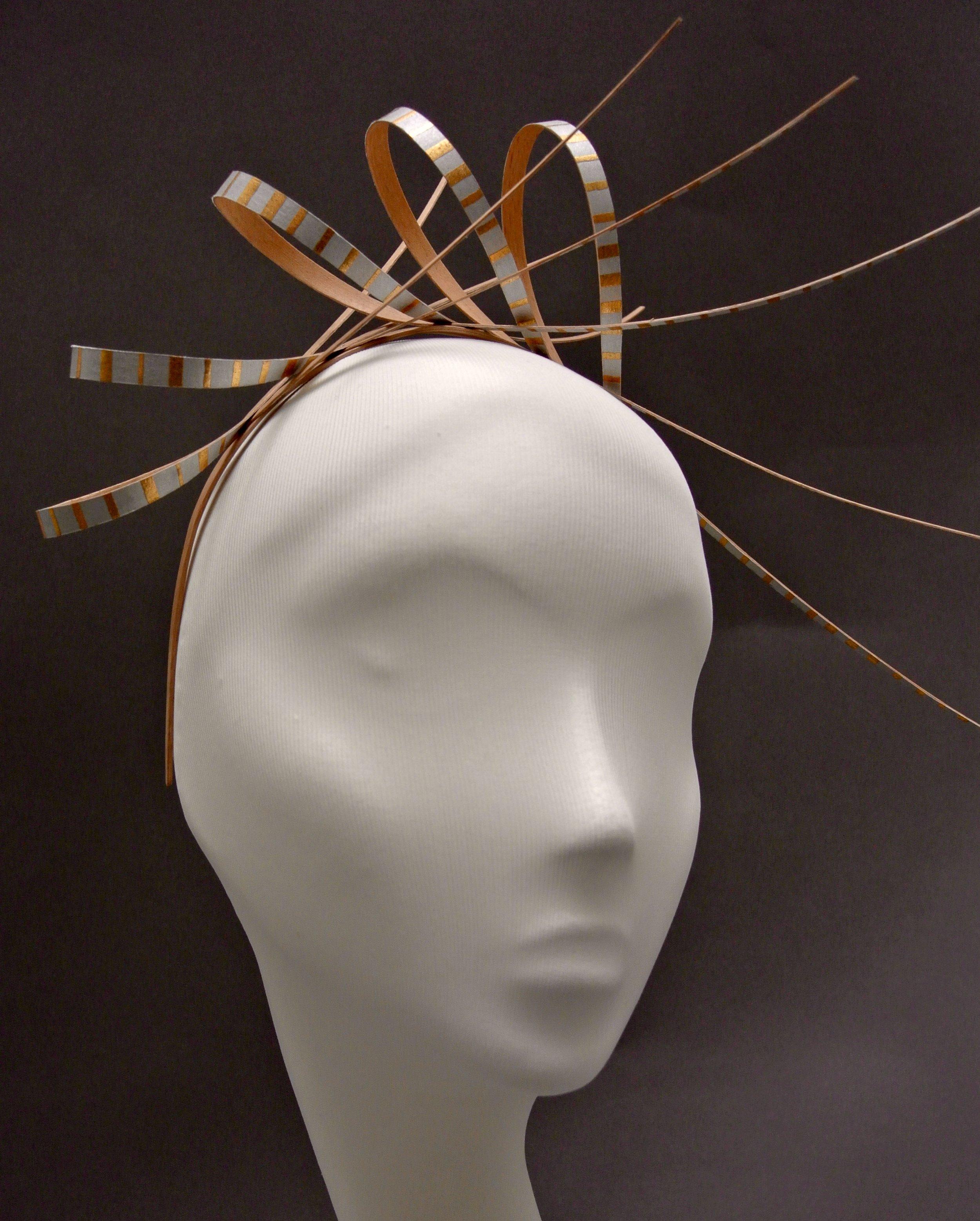 Liberty; laminated beech headband with paper covered beech loops and aluminium rivets