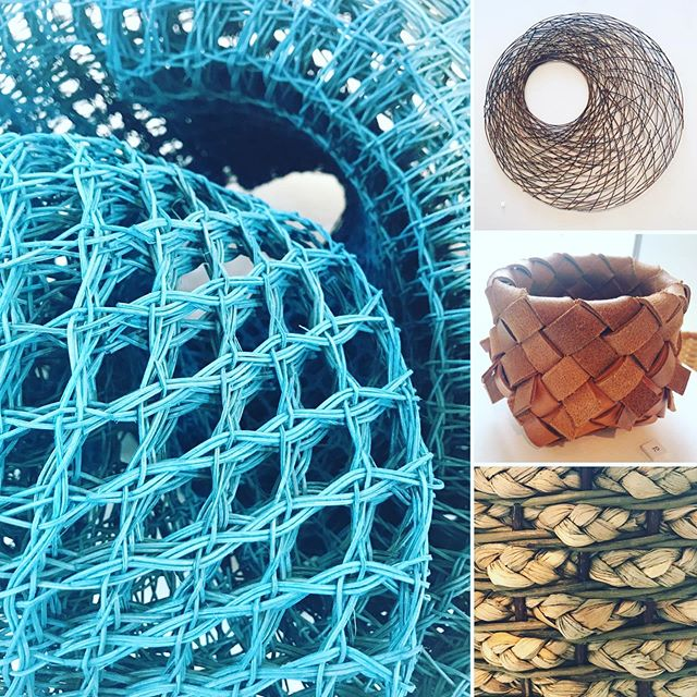 Highlights from Basketry exhibition #Willow #leather #rush #peterhowcroft  #mandycoates