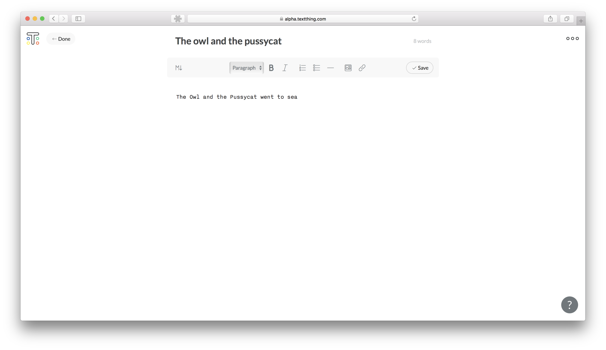 A simple plain text editor that won't distract you