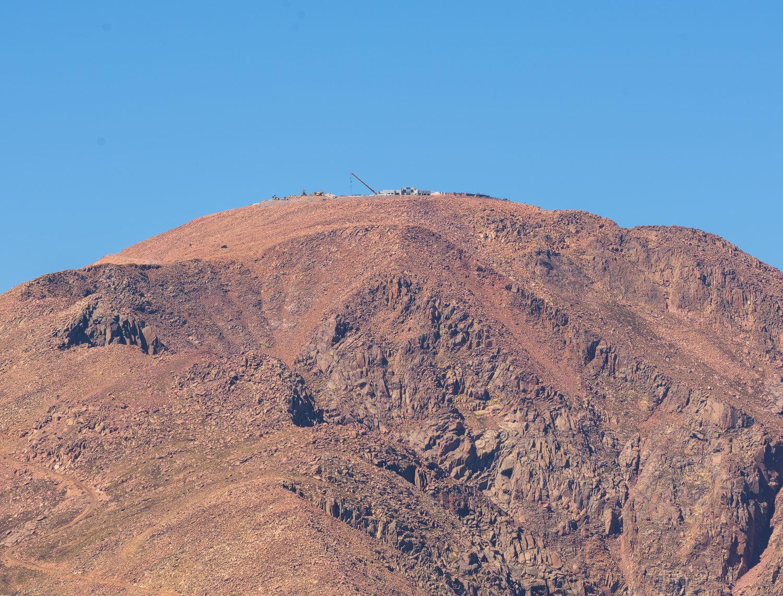 The new Pikes Peak Summit Complex under construction