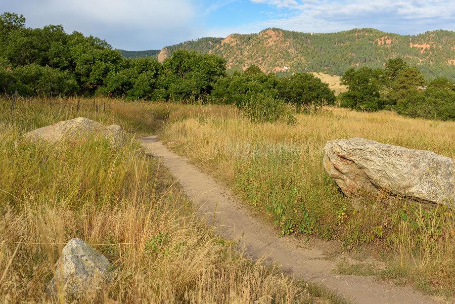 Boulders along the trail edges