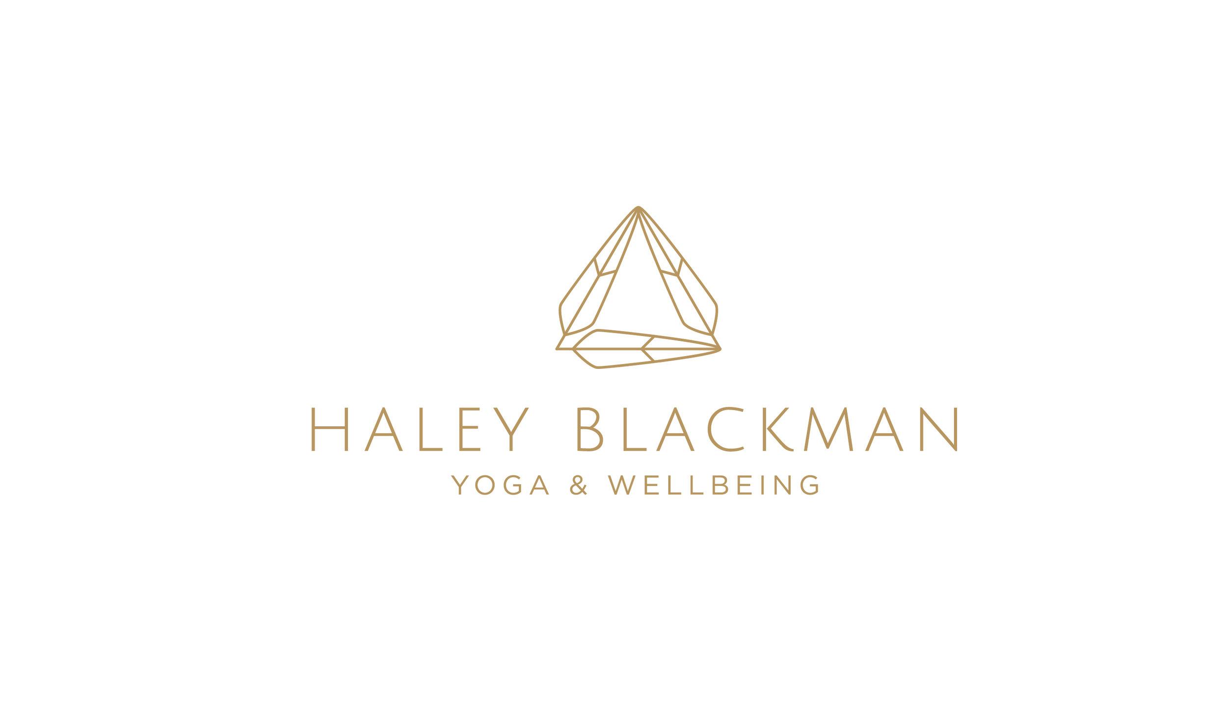 Haley Blackman Yoga Logo Design