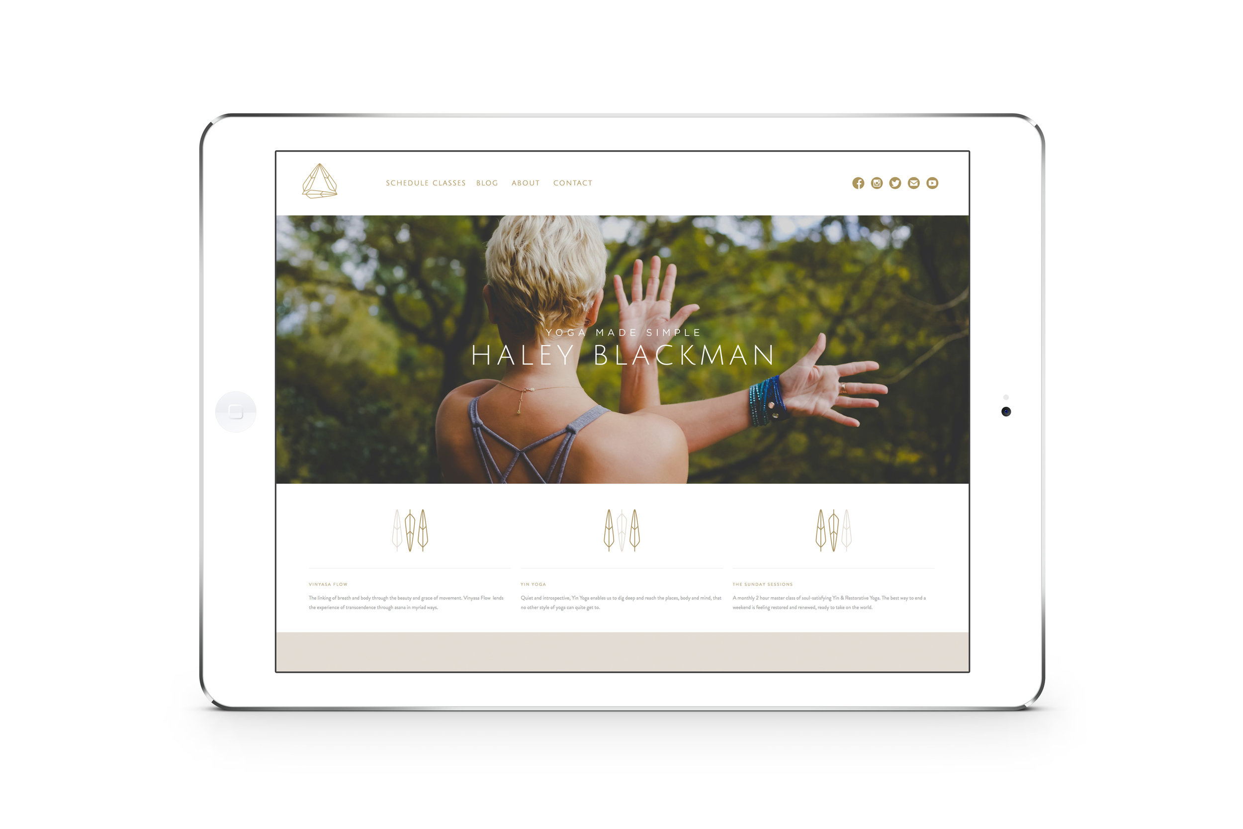 Haley Blackman Website Design