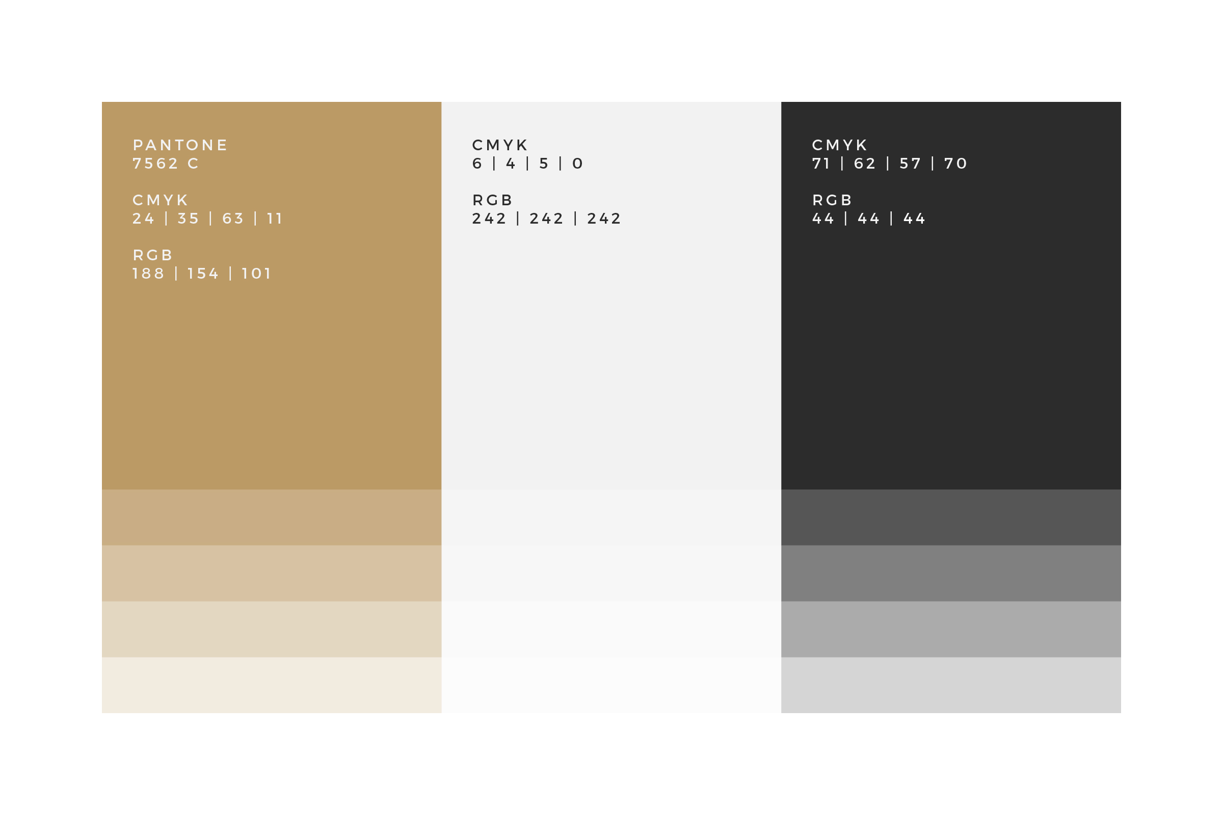 Black Gold Colour Palette