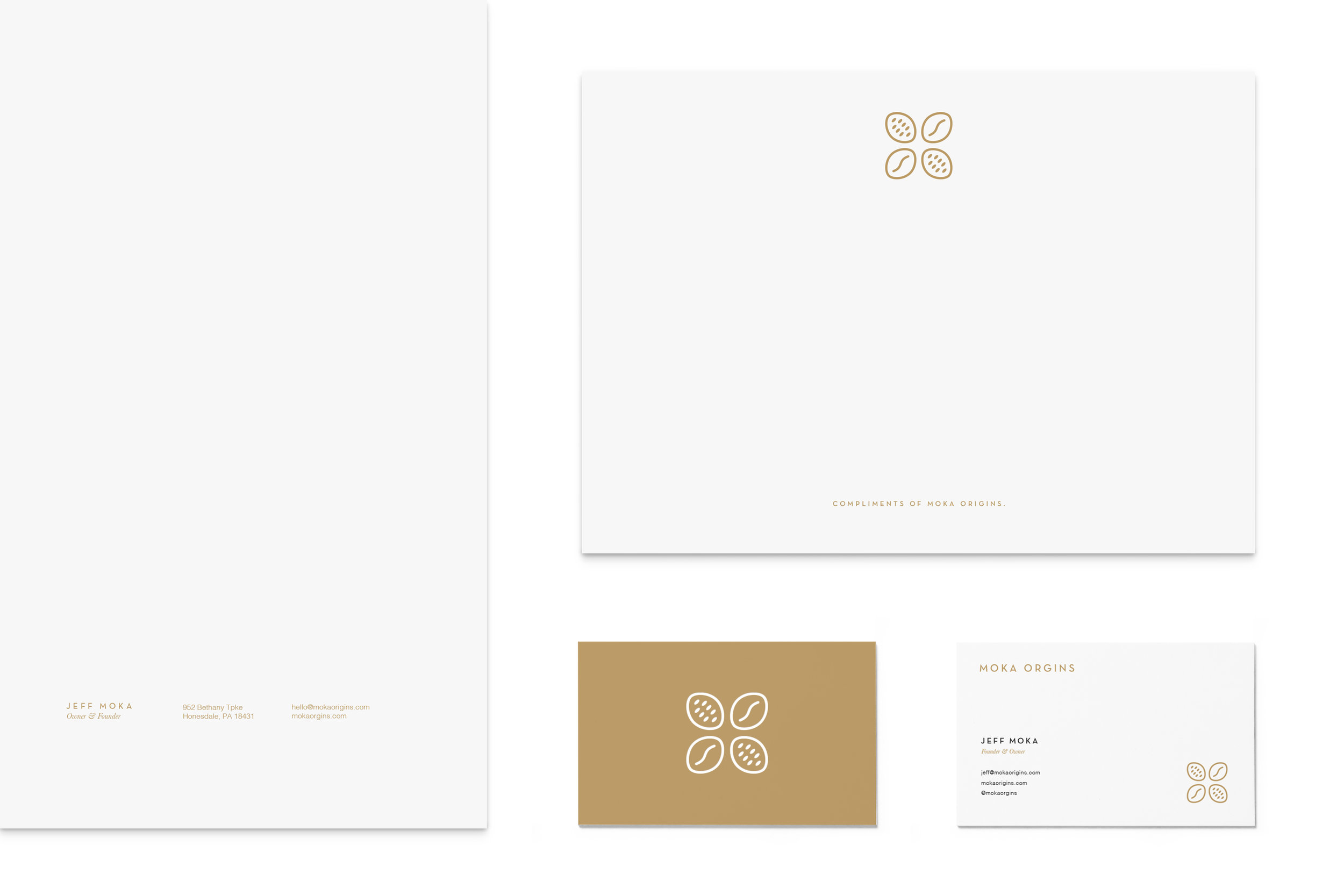 Gold White Branding Design