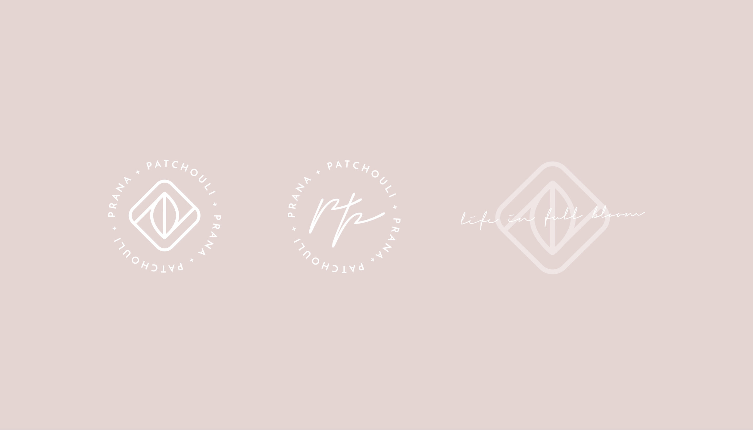 Prana & Patchouli Yoga Logo Design