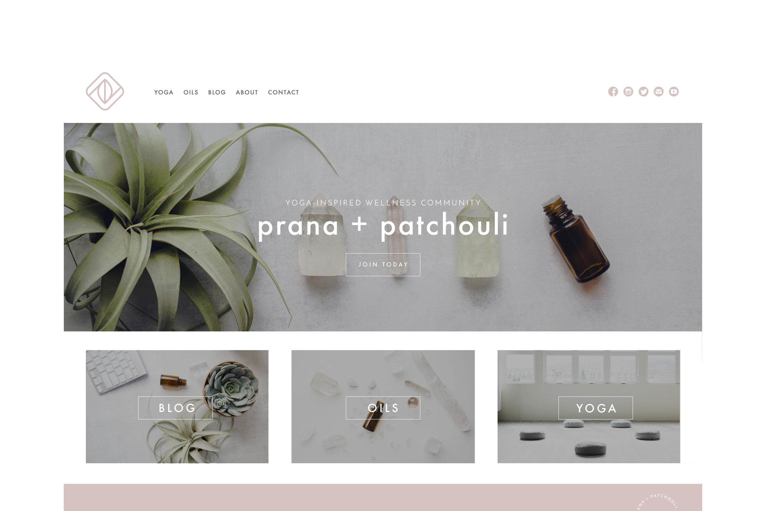 Prana & Patchouli Website Design