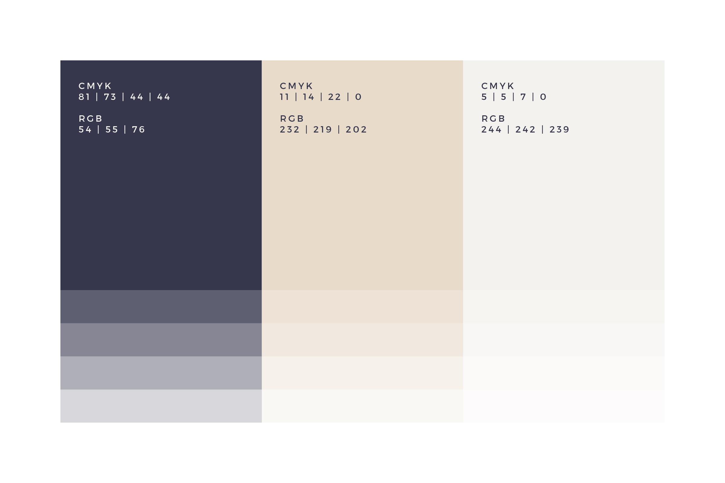 Navy Nude Colour Palette