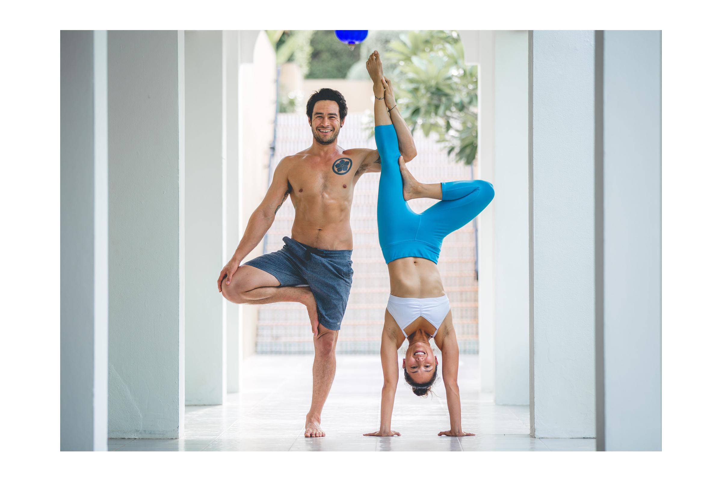 Briohny and Dice Yoga