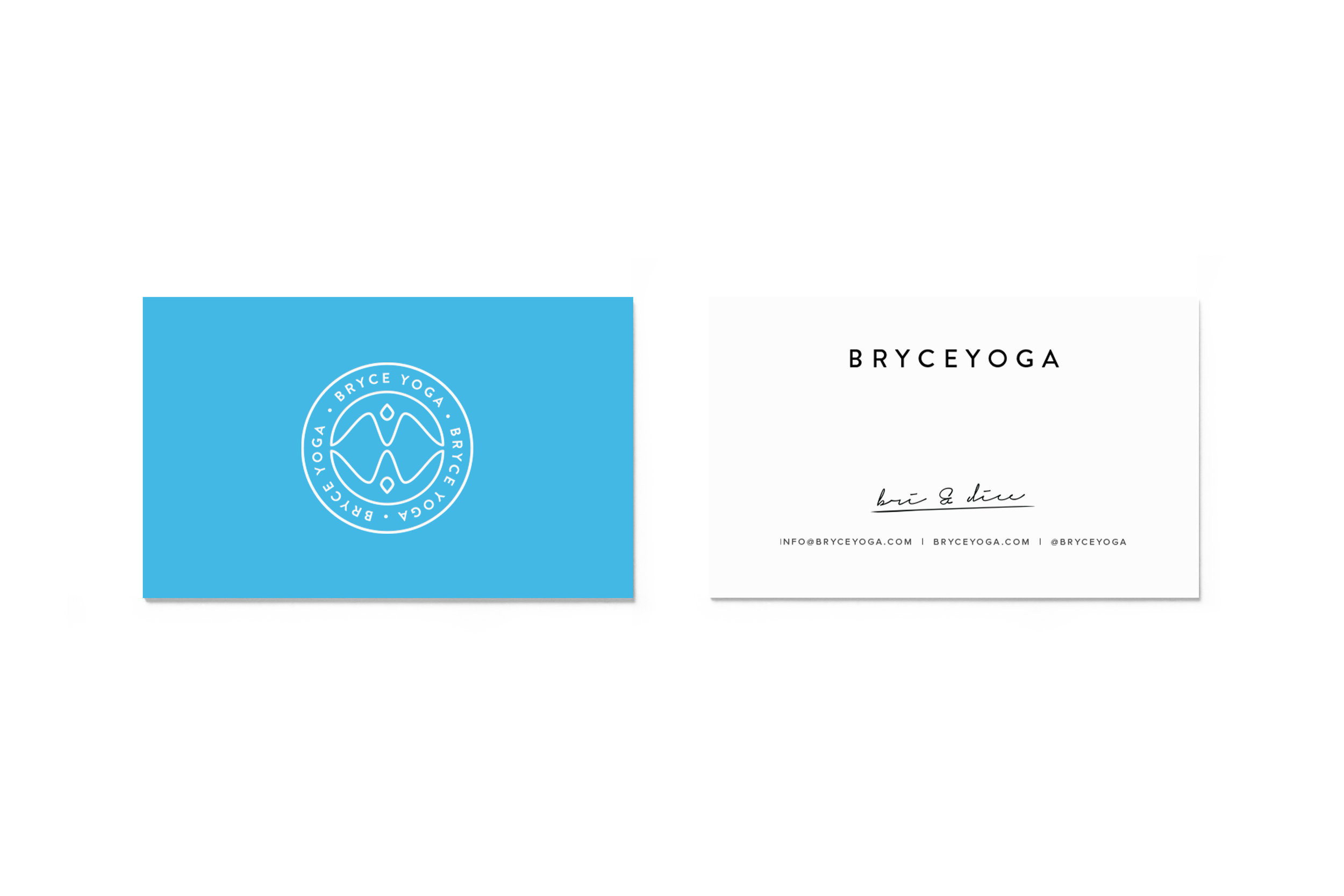 Bryce Yoga Business Cards