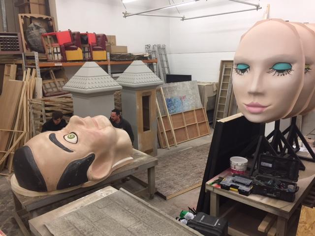 Craftwork Project 8 - Sgt Pepper mask&mannequin.JPG