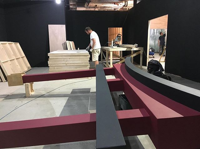#waybackwednesday Our clever chippies building a Japanese Pagoda for a #set we #designed  #constructed and #installed for an #immersiveexperience last year. #setdesign #interiordesign #creativesolutions #constructionmanagement