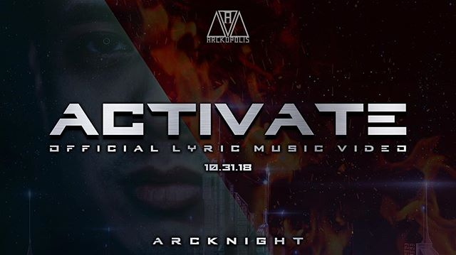 "Official Lyric Music Video of ""Activate"" with views from my @lejardin_la #Hollywood show comes out tomorrow, #Halloween 👽 . . . #Arckopolis #ArckopolisRecords #Arcknight #Artist #Producer #DJ #Activate #MusicVideo #Music"