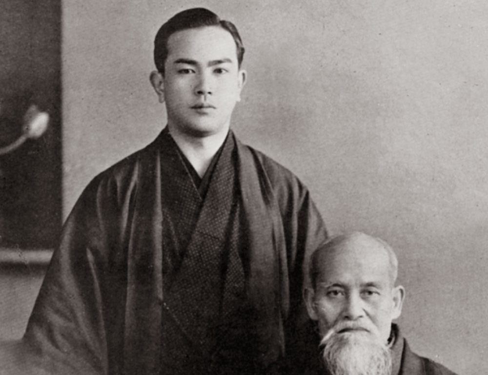 Koichi Tohei with the Founder of Aikido c.1952