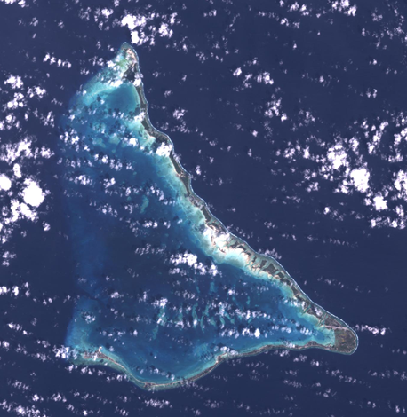 True color composite image of Tarawa, Kiribati - January 27, 2000.