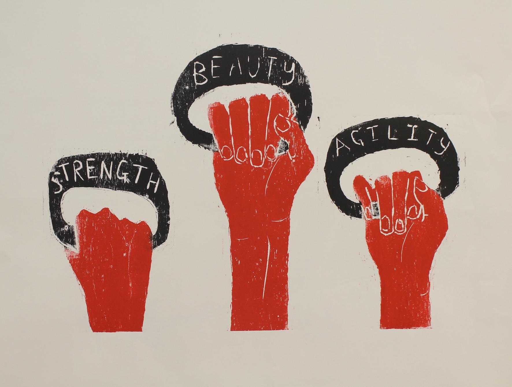 """Declan Jenkins, """"Strength, Beauty, Agility"""" (2016)"""