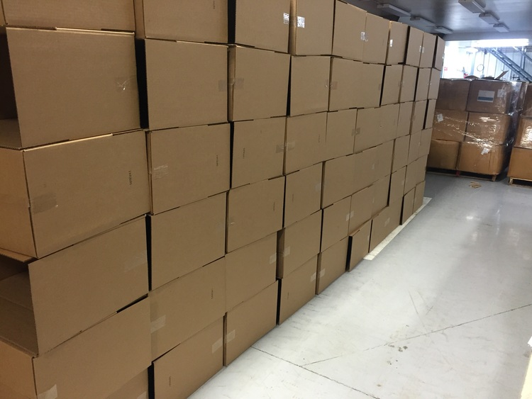 Boxes ready to be filled.