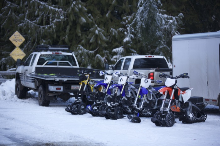 A herd of YETI's ready to go ride!