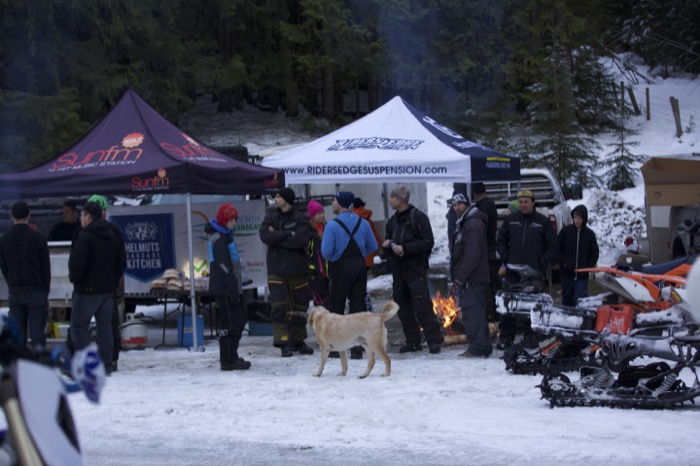 Great friends, great time burning gas. Ian from Riders Edge was there our suspension expert, having a great day too! Vernon Snow Bikers put on a great event, be sure to come next year!