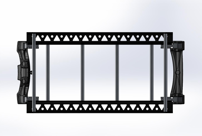 Top view cargo rack