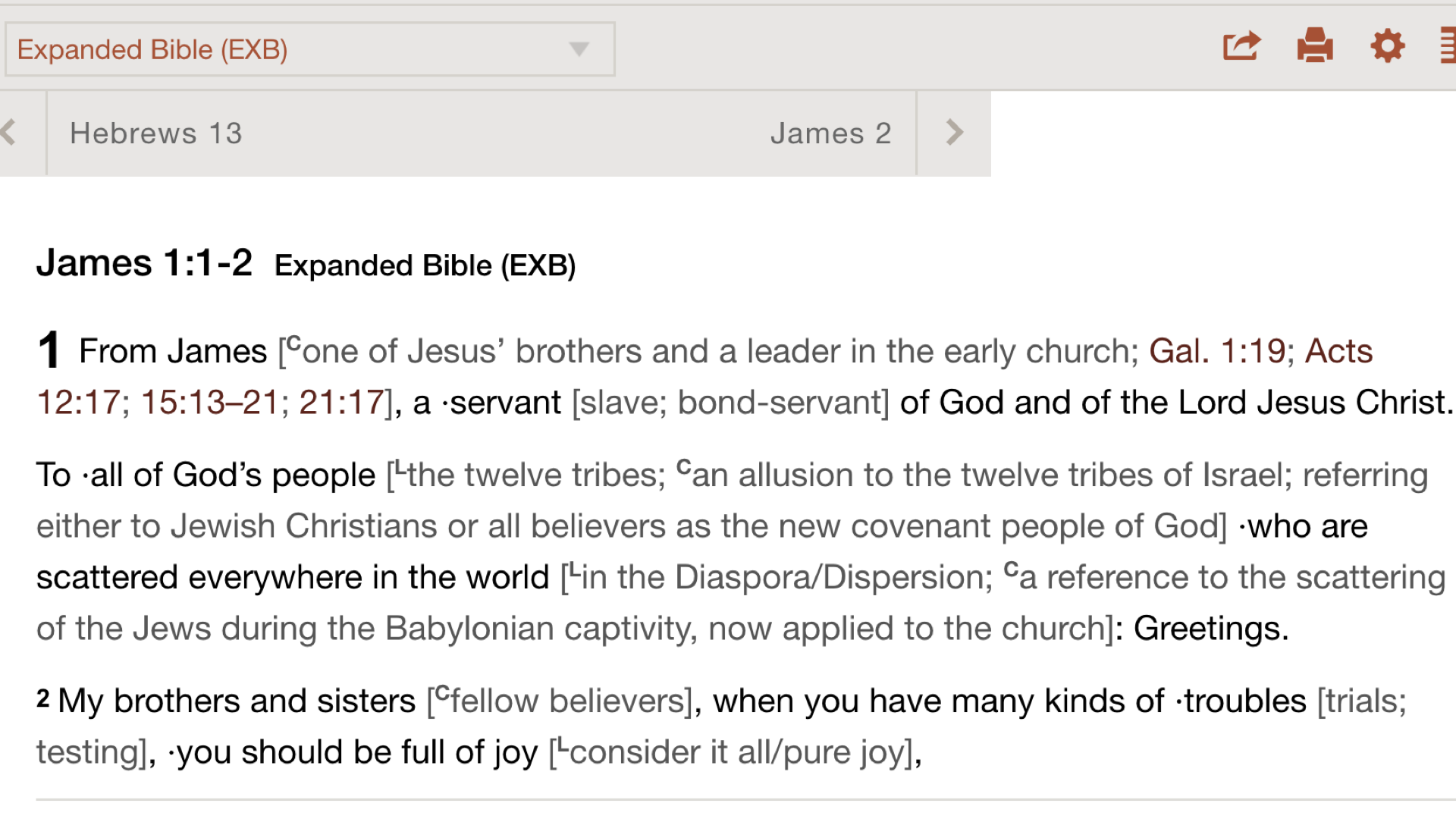 Expanded Bible - Online at Bible Gateway