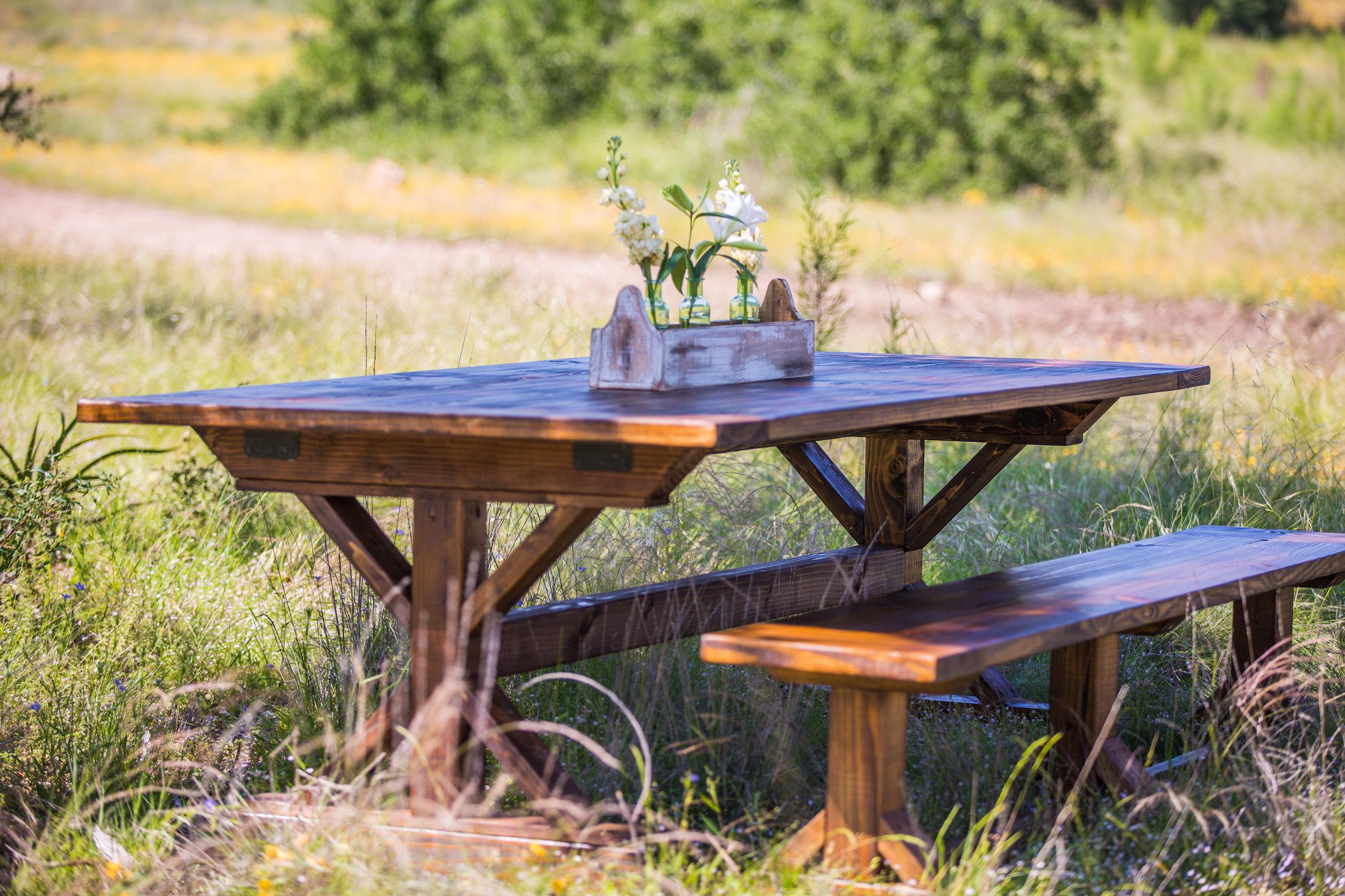 Original Gathering Table in Dark Brown Stain