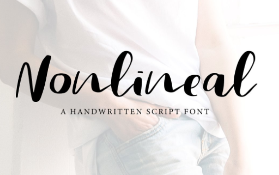 Nonlinear Hand-drawn Font by Paula A on Creative Market