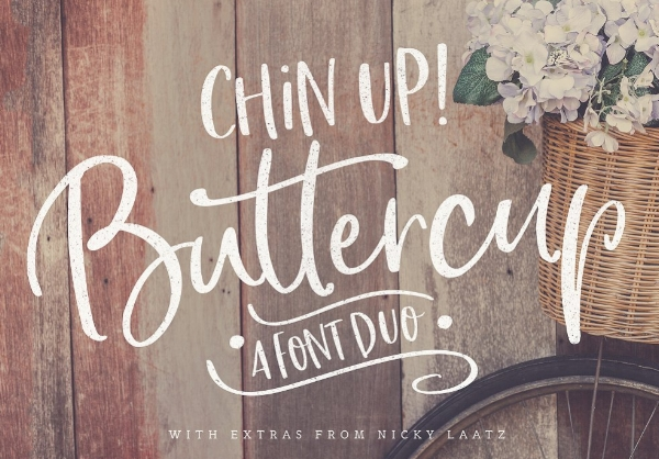 Chin Up Buttercup Font by Nicky Laatz Creative Market