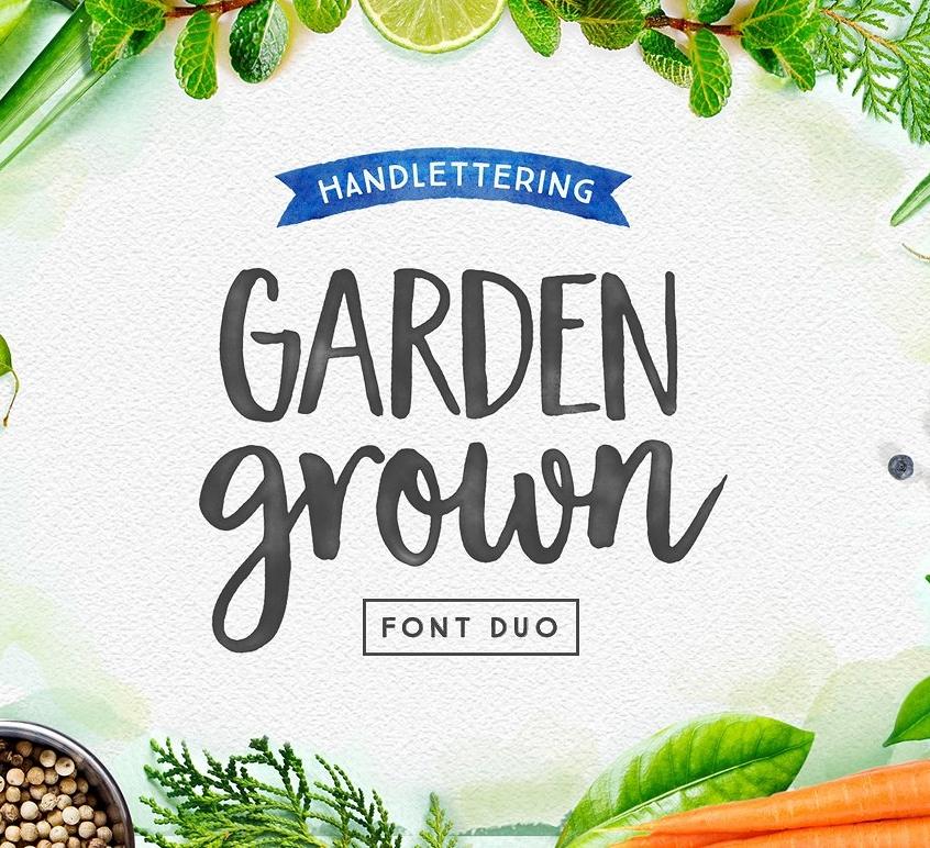 Garden Grown Font Creative Market