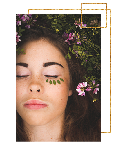 Catherine McGuire website design gold art deco beauty services website