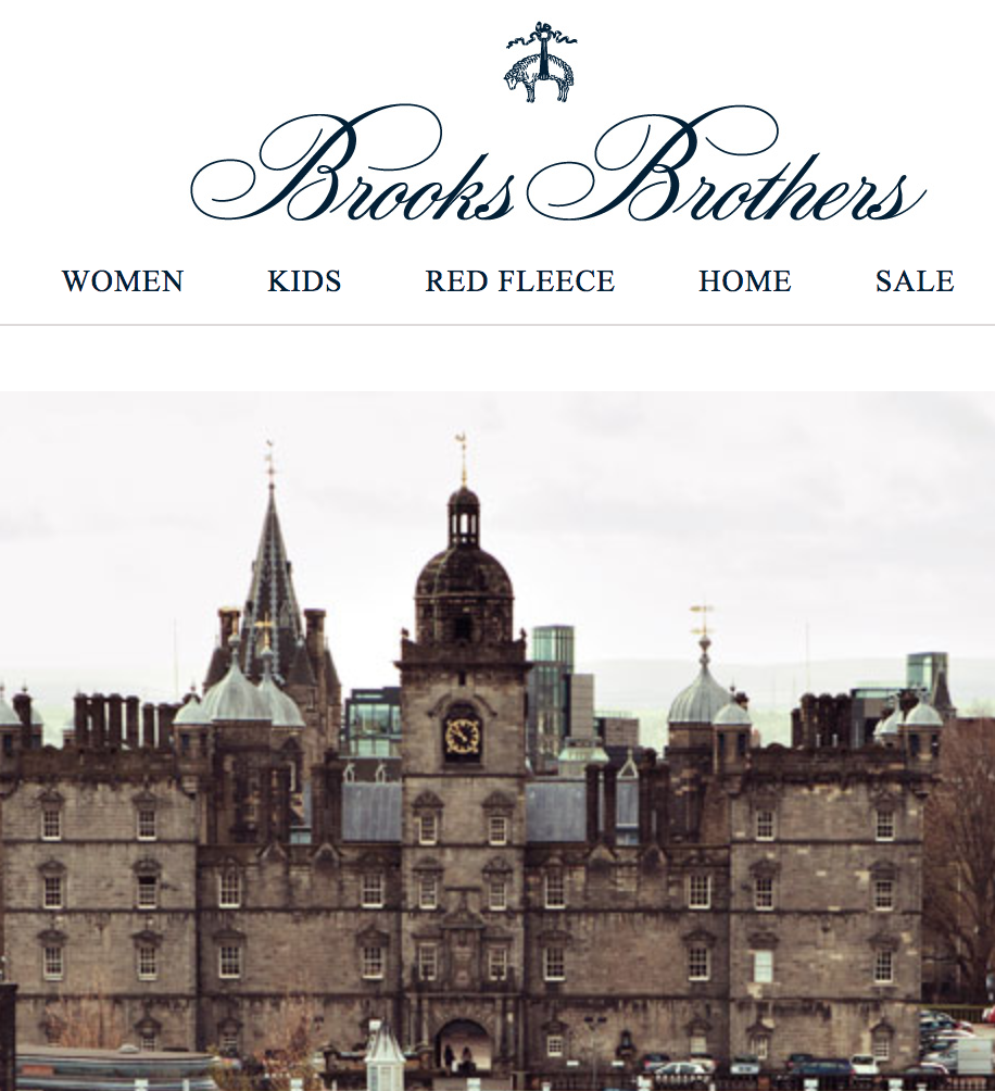 Fall in Edinburgh - Brooks Brothers