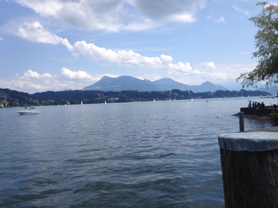 The view of Lake Lucerne. Lucerne, Switzerland, site of Lucerne Festival (2013)