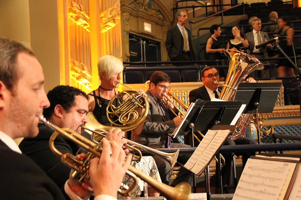 LPO Brass Quintet at Orpheum Theater opening event.
