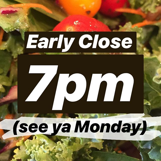 Closing early this evening for a staff meeting! Now serving vegan & vegetarian GF salads! . . #salads #batchatx #craftbeerculture #sunday #yum