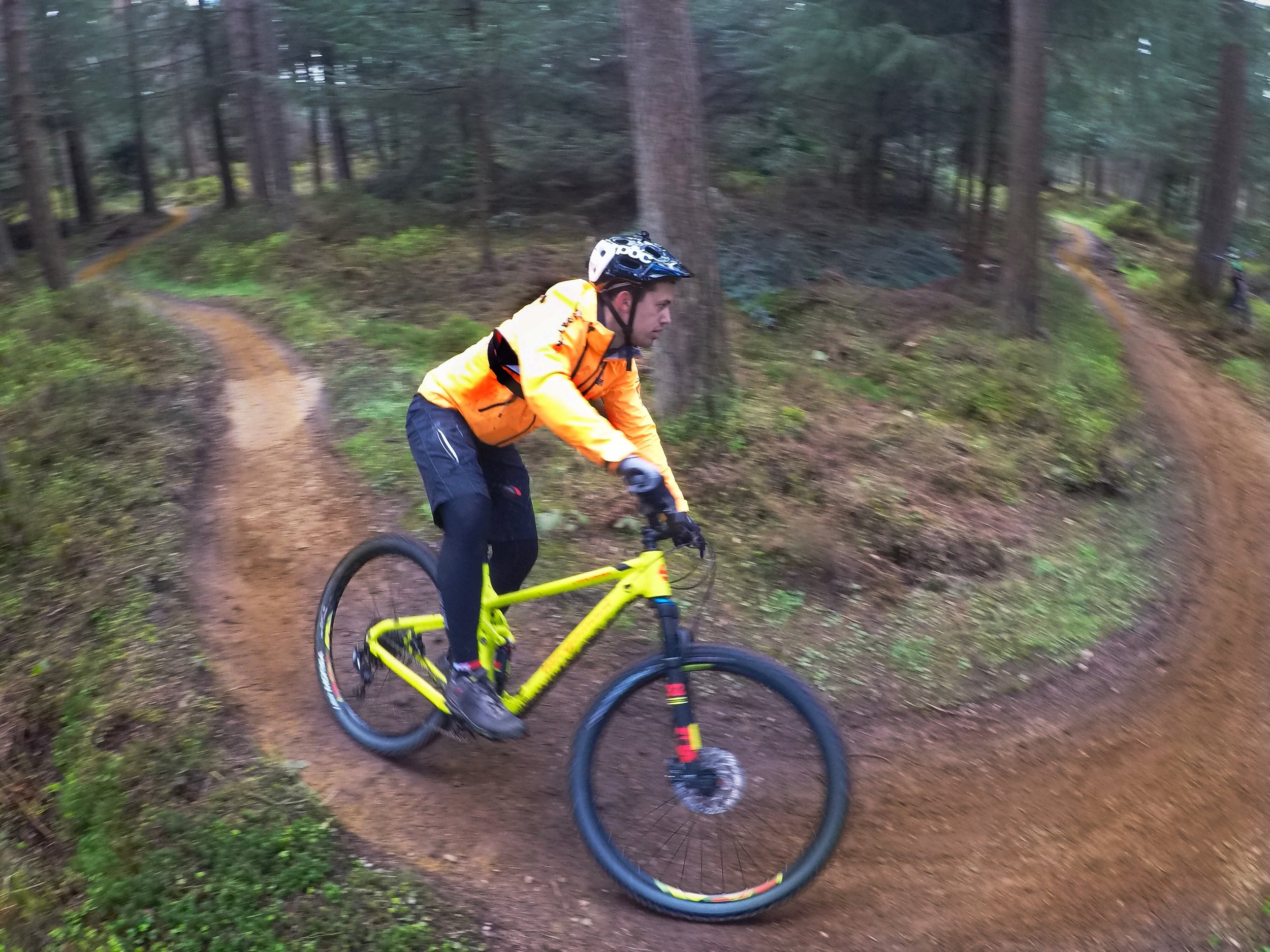 Carving the berm - pedals