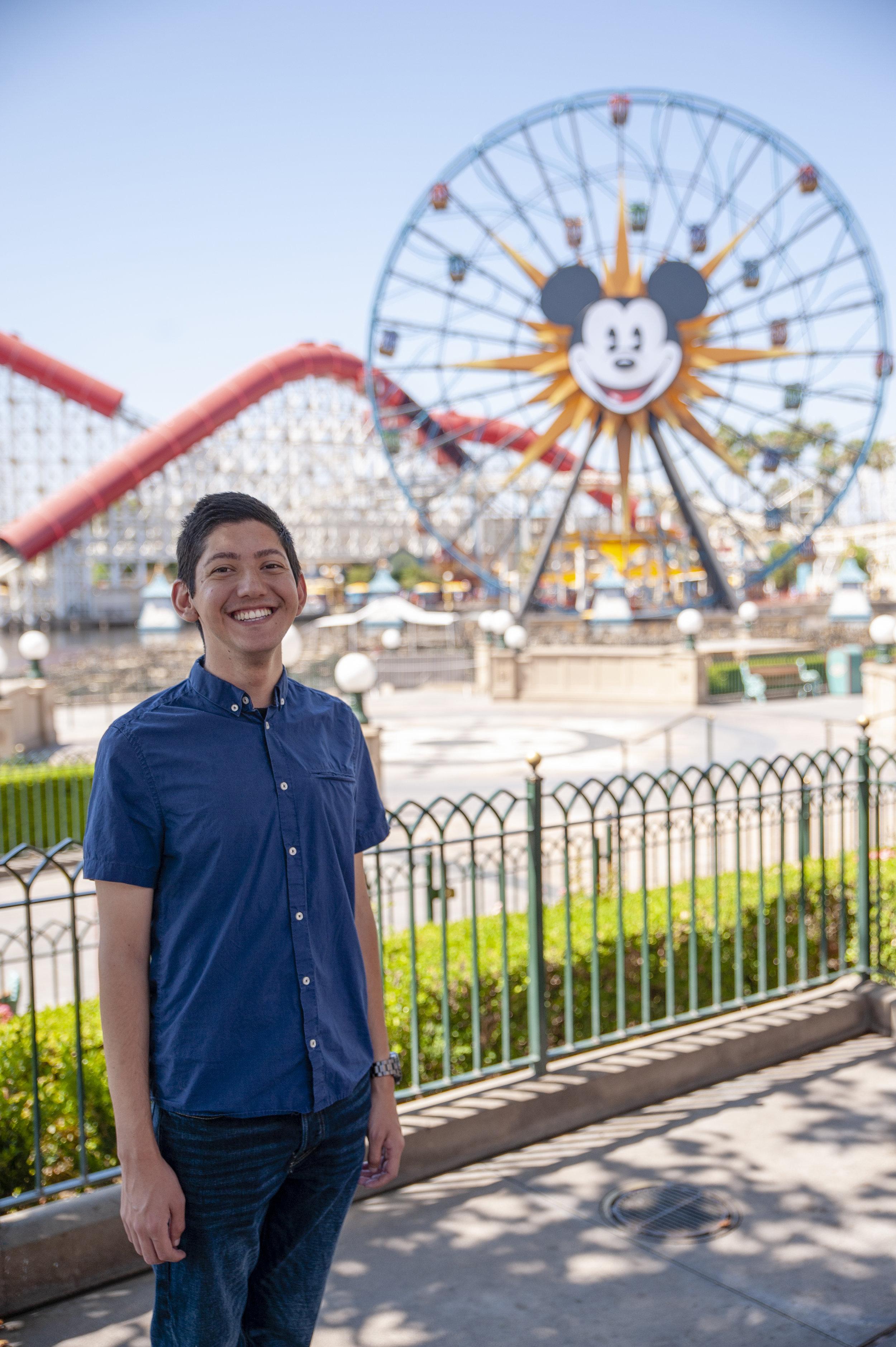 Me at Pixar Pier