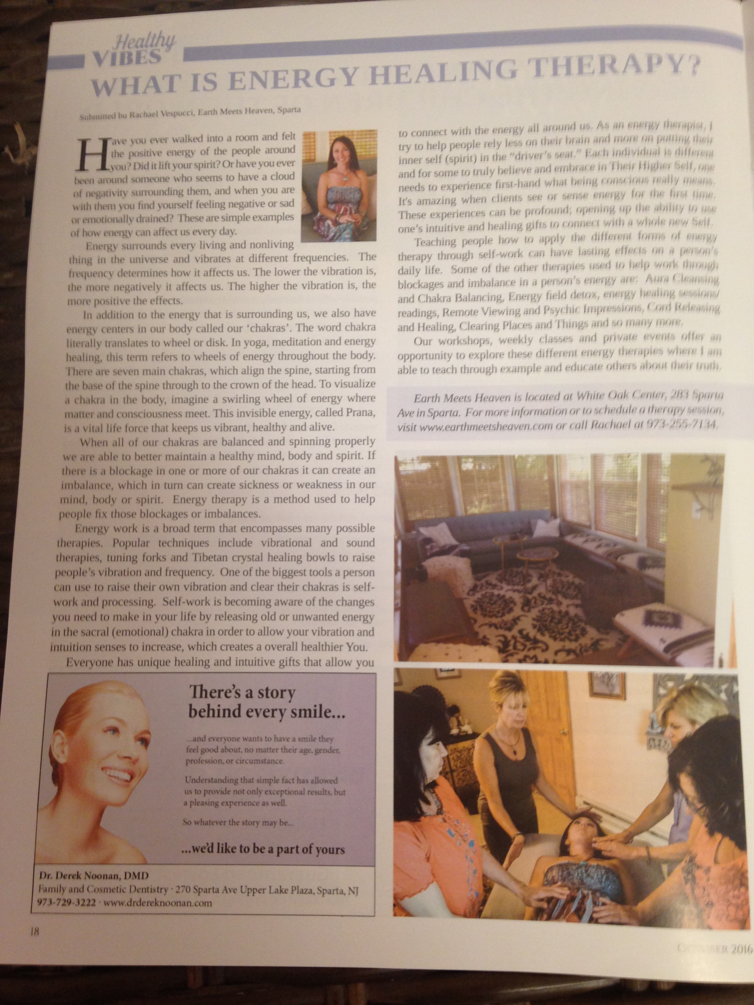 Proudly Featured in Sparta Living Magazine