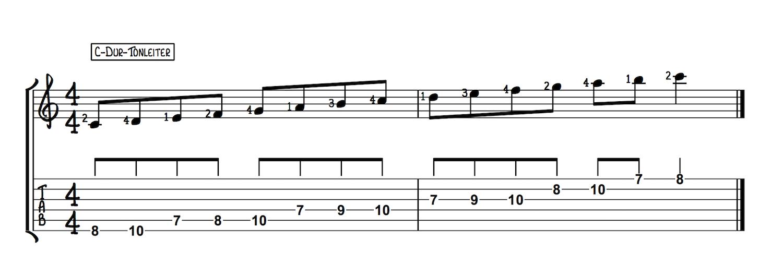 C Dur-Tonleiter
