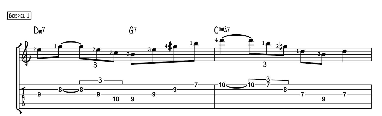Mit Dreiklängen über Akkorde improvisieren Beispiel 1