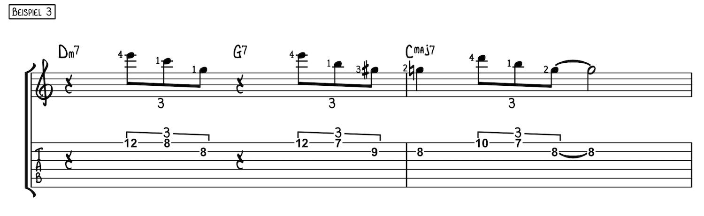 Mit Dreiklängen über Akkorde improvisieren Beispiel 3