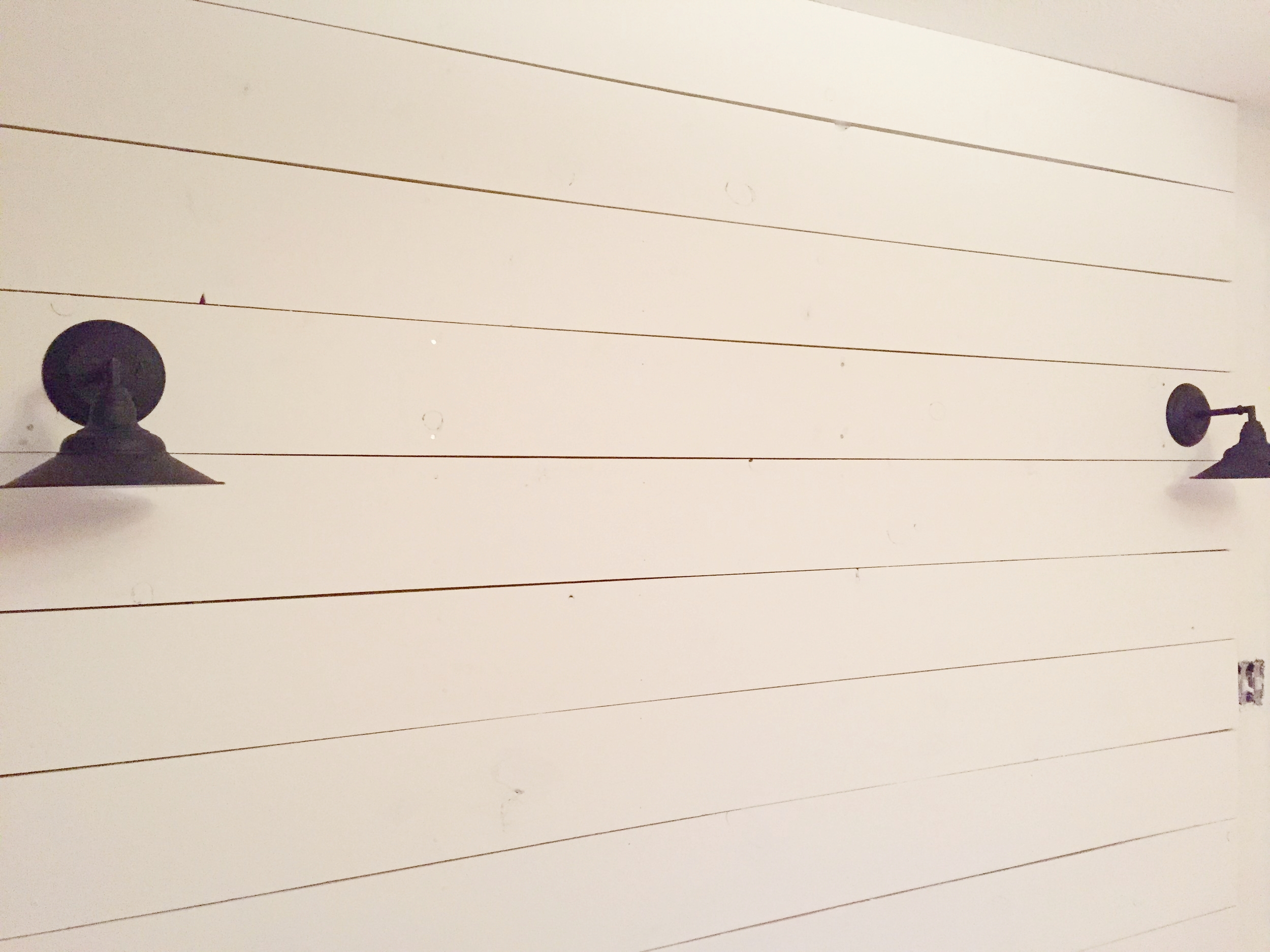White Bedroom--with a little shiplap of course!