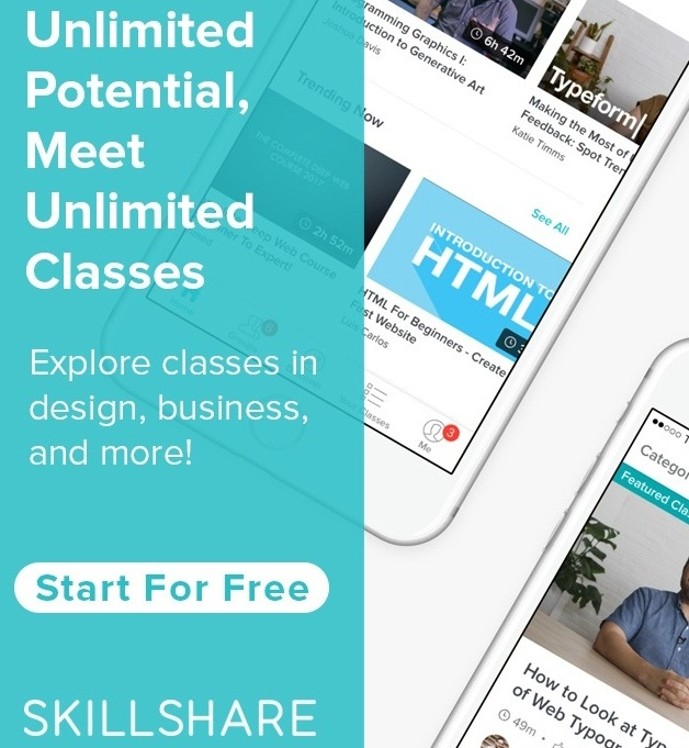 Two free months of  Skillshare ! (no code needed)
