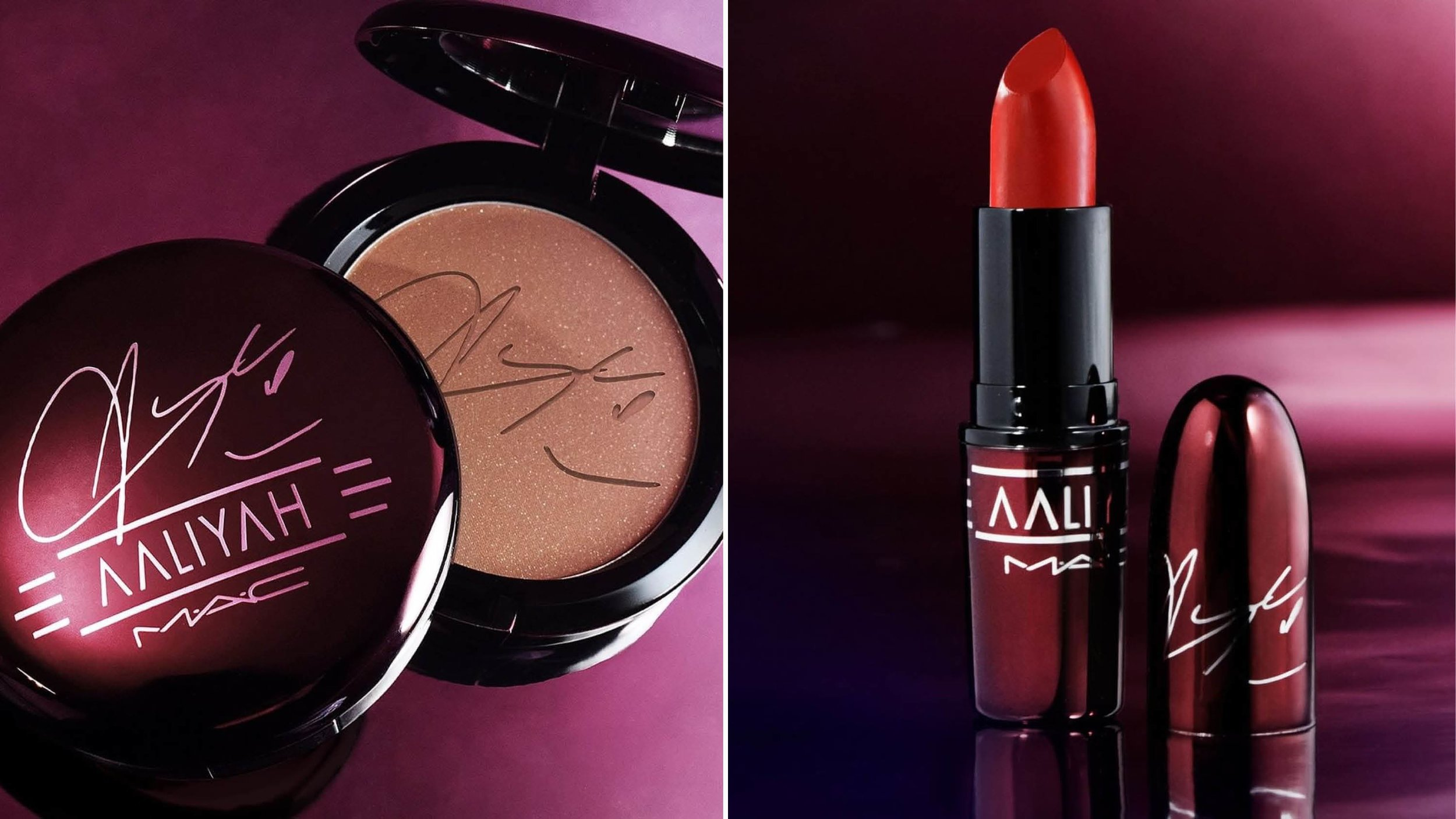 MAC x Aaliyah Bronzing Powder and Red Lipstick.jpg