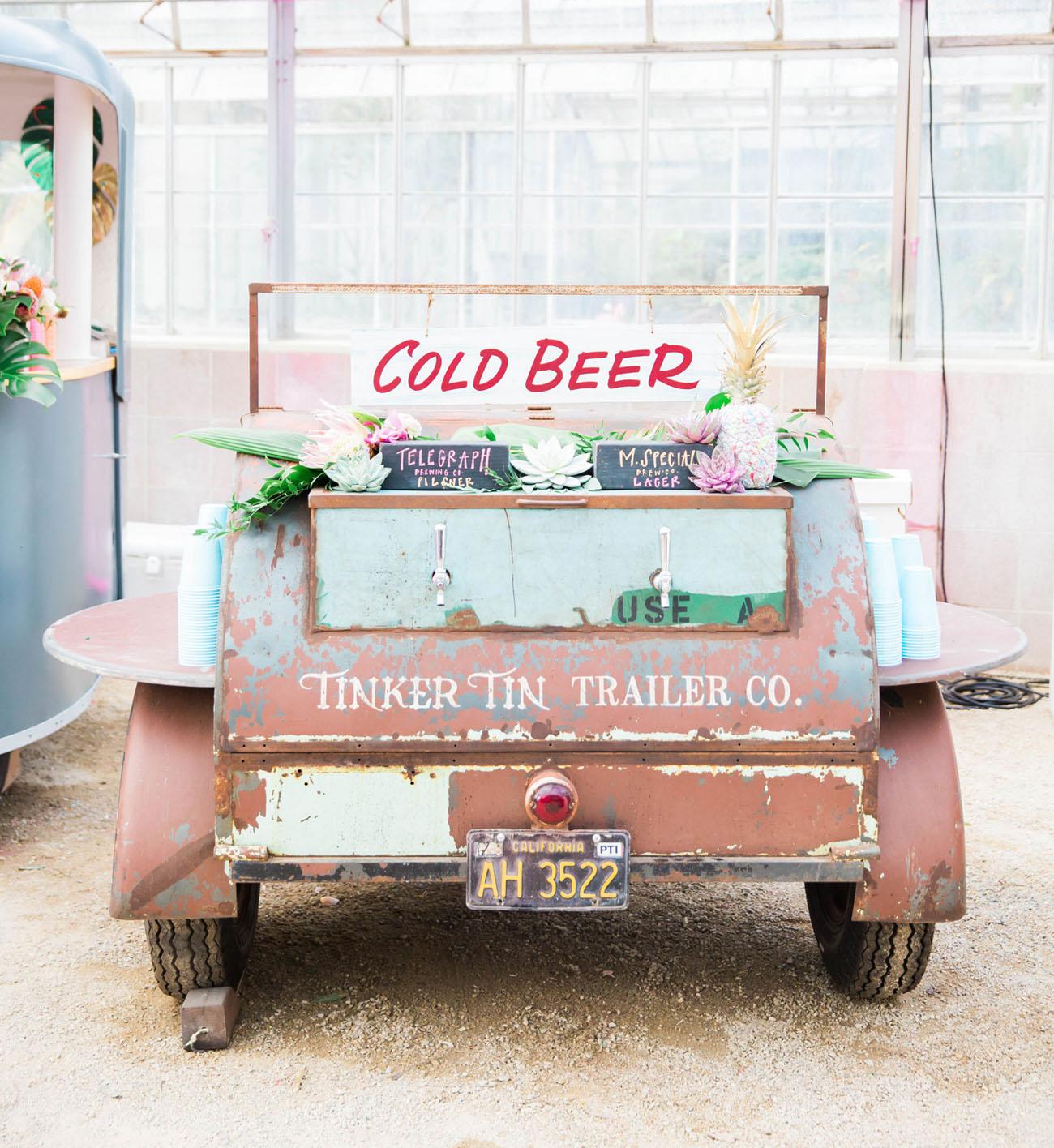 Vintage Keg Trailer