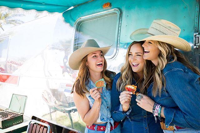 Trailer park bolo brigade! @saddletrampbrand for the win!! 📸 @tristantwisselman #yoloinyourbolo #trailerlife #stagecoach #stagecoach2018